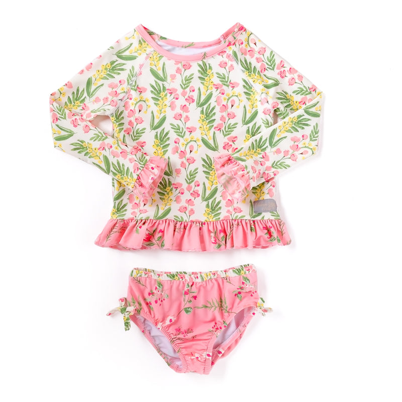 Spring Break Pinkbell Rash Guard Set