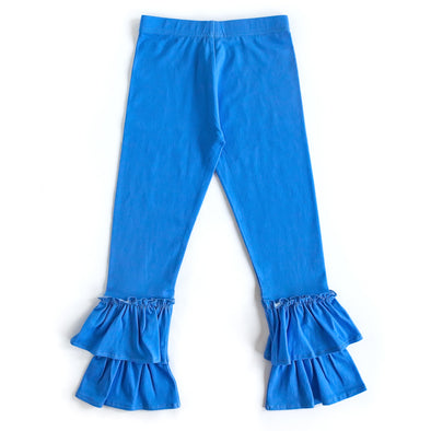 Grateful and Blessed Blue Ruffle Pants
