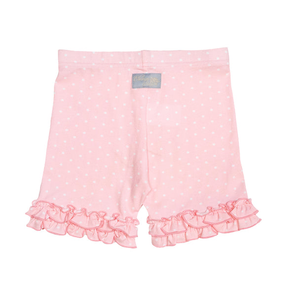 Pink Brailey Ruffle Knit Shorts