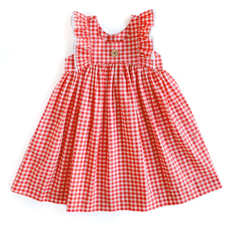 Gingham Lacey Dress