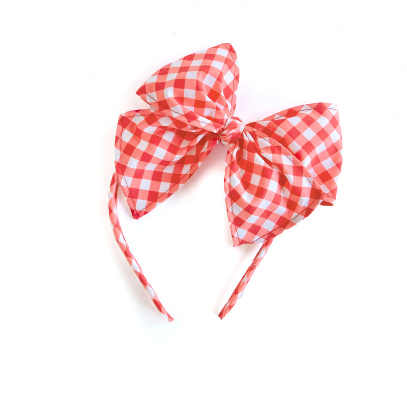Gingham Bea Headband