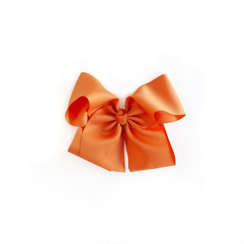 Pumpkin Orange Large Classic Bow