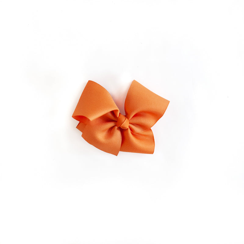 Pumpkin Orange Medium Classic Bow
