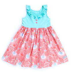 Bunnies & Blossoms Swan Heather Dress