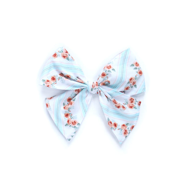 Bunnies & Blossoms Rose Sonni Fabric Bow