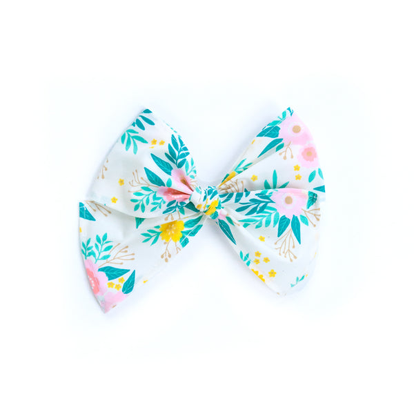 Bunnies & Blossoms Floral Sonni Fabric Bow