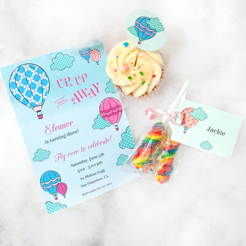 A Summer in the Clouds Party Printable Package