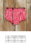 Red Riding Hood Heidi Check Diaper Cover