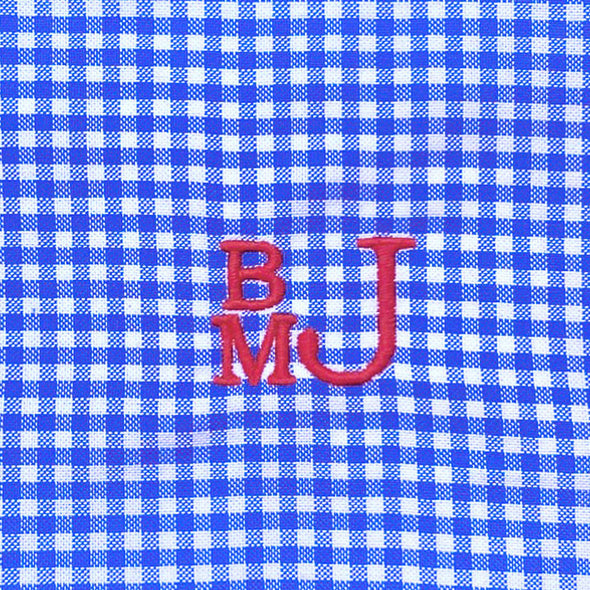 Blue Check James Button Down Shirt