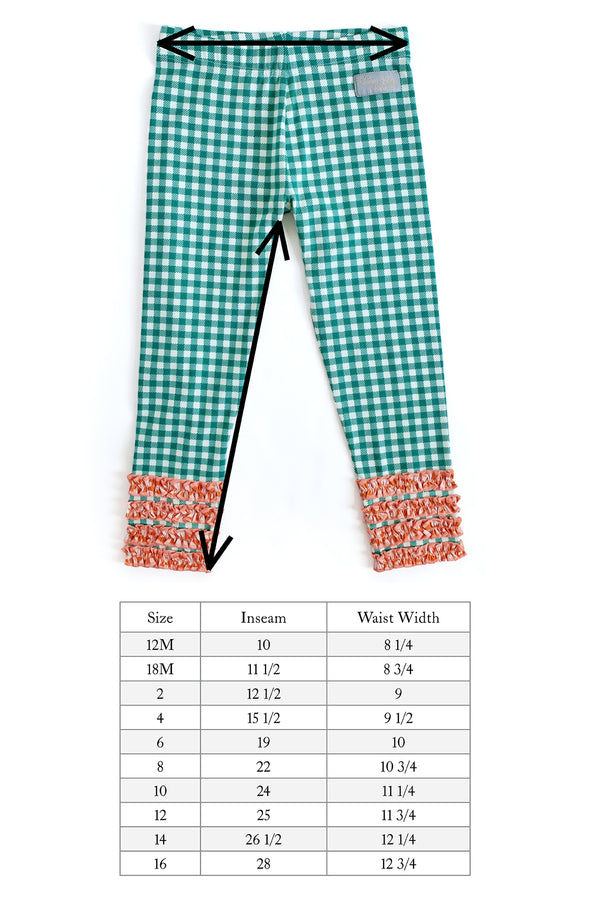 Green Check Knit Legging