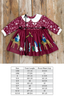 Silent Night Paisley Cranberry Dress