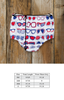 Star-Spangled Sunglasses Heidi Diaper Cover
