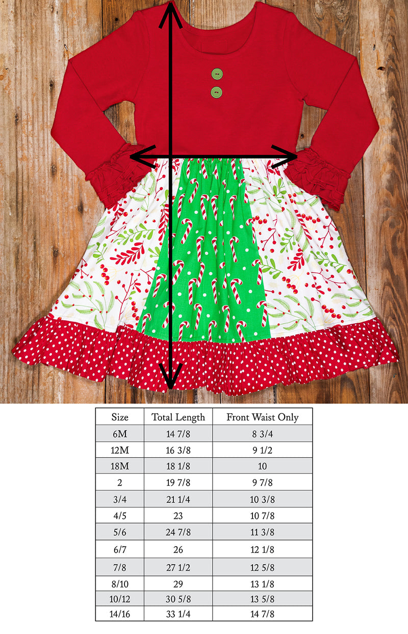 Christmas Countdown Rhonda Candy Cane Panel Dress