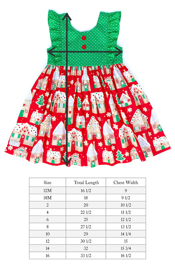 Red Gingerbread Woven Dress