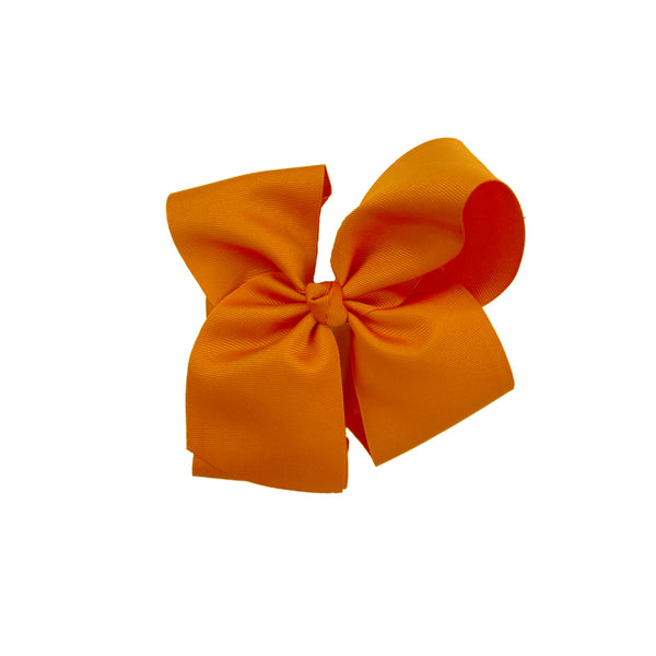 Grateful and Blessed Medium Orange Bow