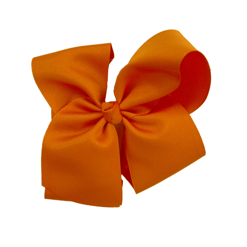 Grateful and Blessed Large Orange Bow