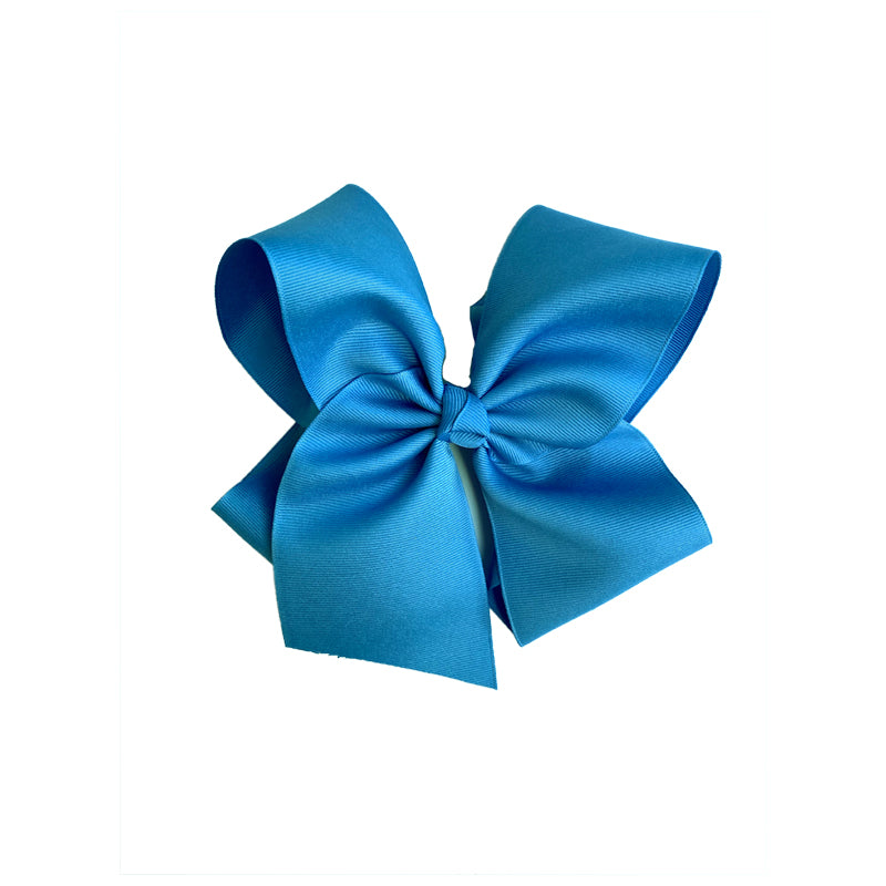 Grateful and Blessed Medium Blue Bow