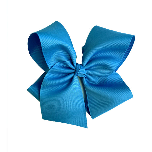 Grateful and Blessed Large Blue Bow