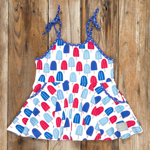 Patriotic Party Popsicles Maggie Top