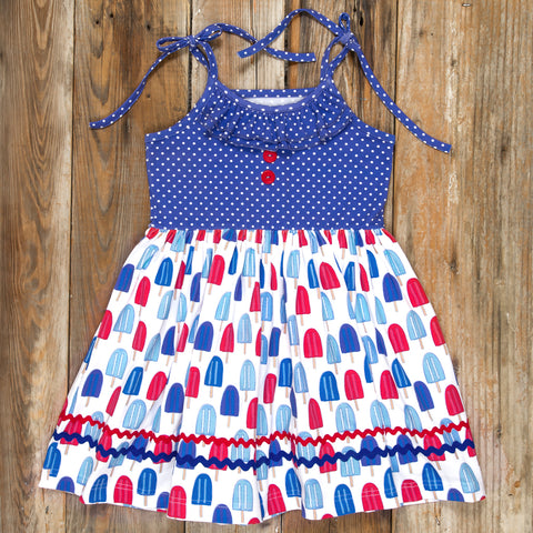 Patriotic Party Popsicles Judy Dress