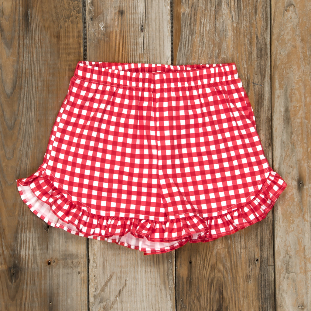 Patriotic Party Red Check Lulu Shorts