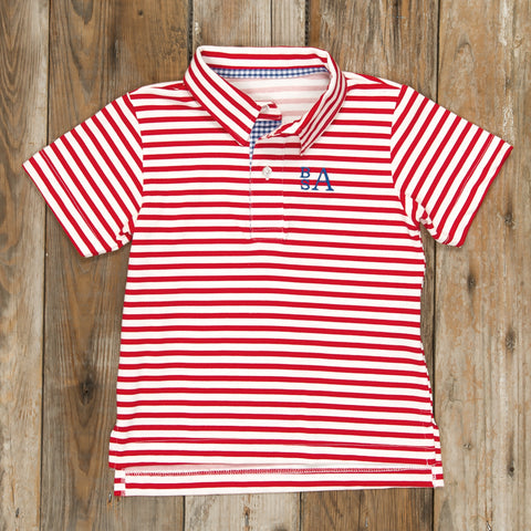 Patriotic Party Red Polo