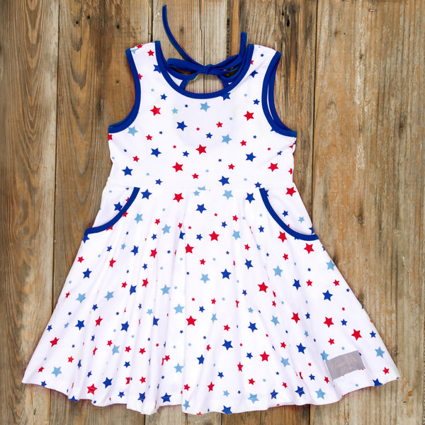 Patriotic Party White Stars Andrea Dress
