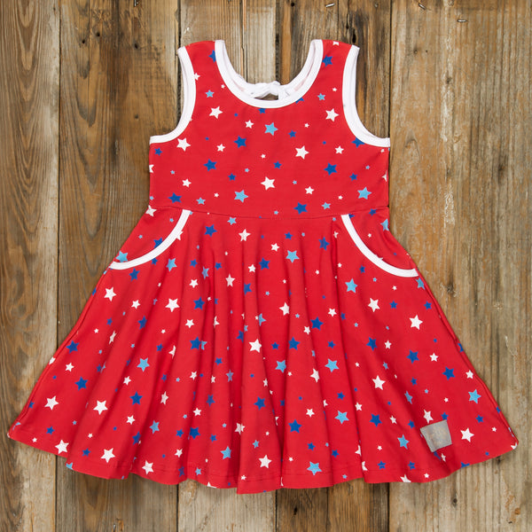 Patriotic Party Red Stars Andrea Dress