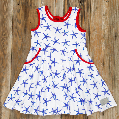 Patriotic Party Blue Starfish Andrea Dress