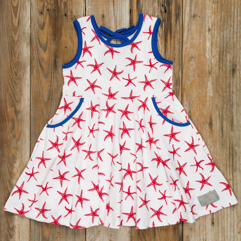 Patriotic Party Red Starfish Andrea Dress