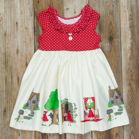 Red Riding Hood Heather Short Sleeve Dress