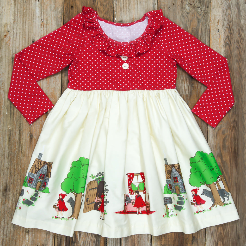 Red Riding Hood Heather Long Sleeve Dress