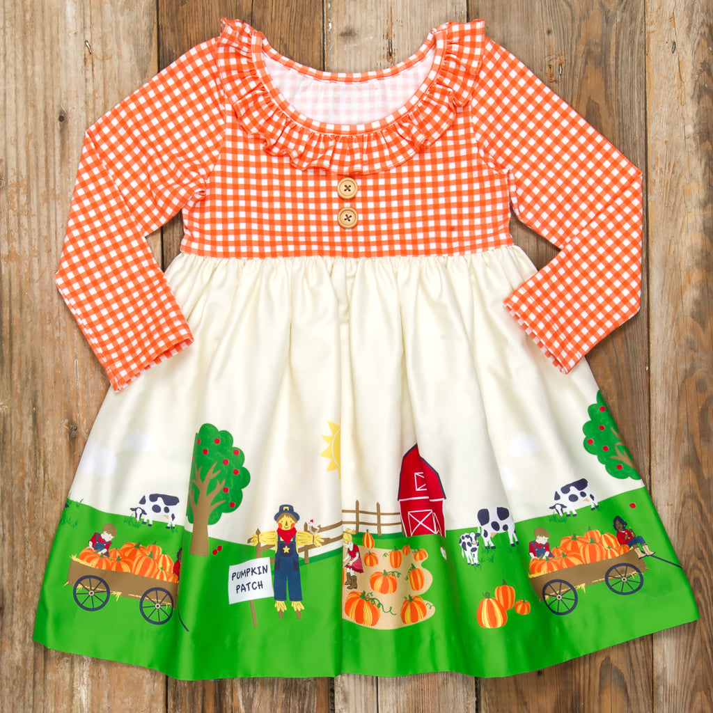 Pumpkin Patch Parade Heather Long Sleeve Dress