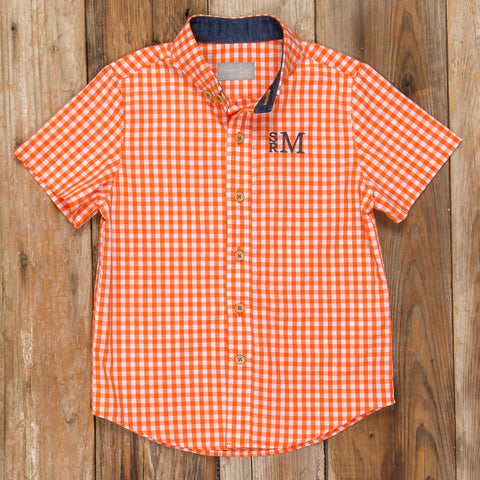 Pumpkin Patch Parade James Check Button Down