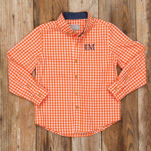 Pumpkin Patch Parade James Check Long Sleeve Button Down