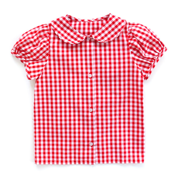 Red Check Esther Top