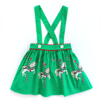 Carousel Suspender Skirt