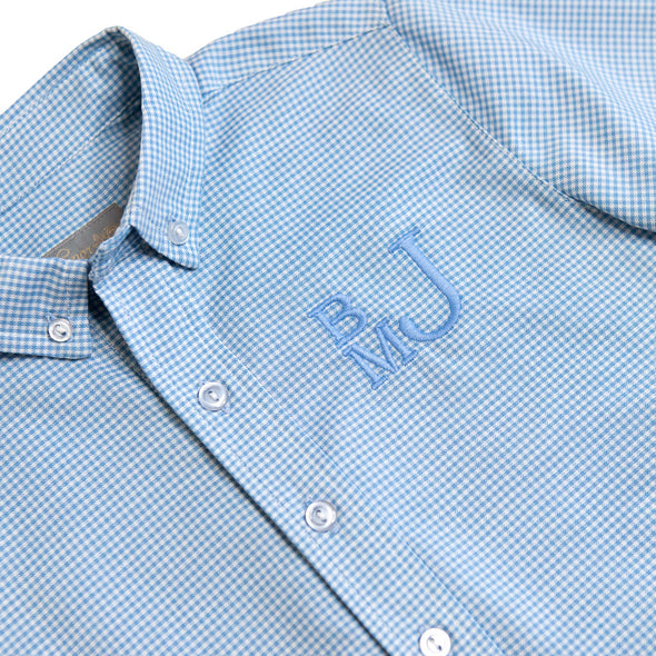 Blue Gingham James Button Down