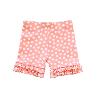 Peach Dot Knit Brailey Shorties