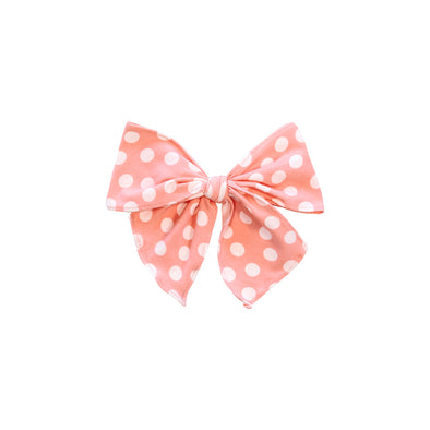 Peach Dot Sonni Bow
