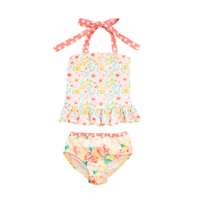 Yellow Fresh Flowers Tinsley Tankini Set