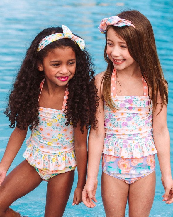 Lavender Fresh Flowers Tinsley Tankini Set