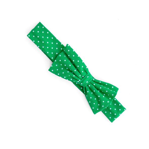 Green Polka Dot Hope Headband