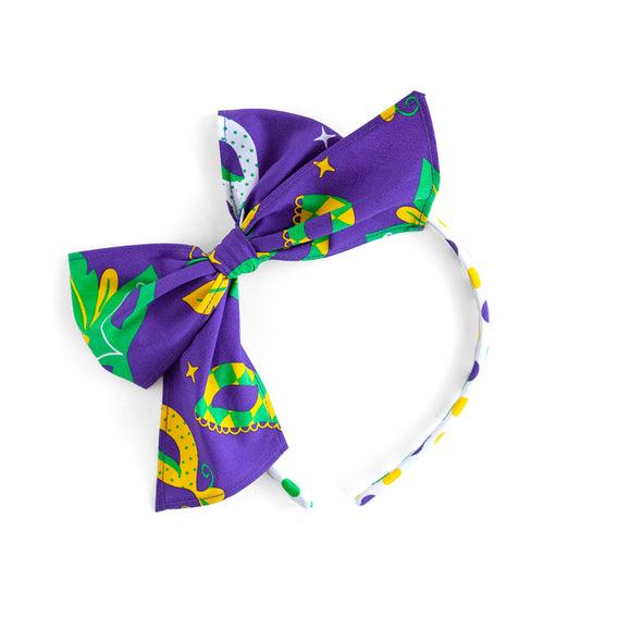 Mardi Gras Party Bea Headband