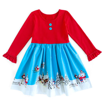 Christmas Scene Rhonda Dress