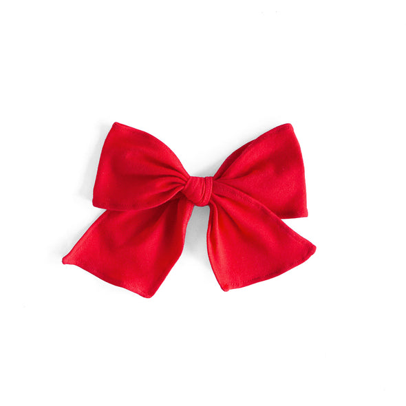 Red Knit Sonni Bow