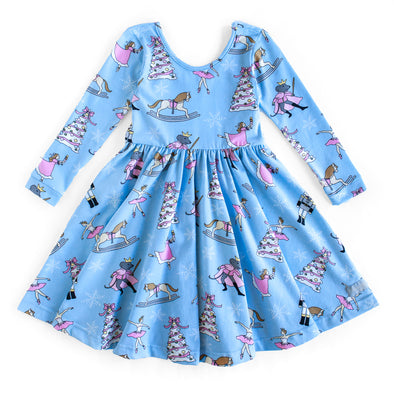 Blue Nutcracker Knit Joy Dress