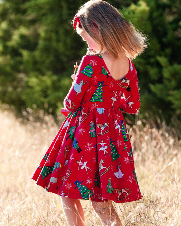 Red Nutcracker Knit Joy Dress