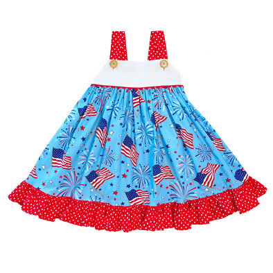 Grand Old Flag Clementine Dress
