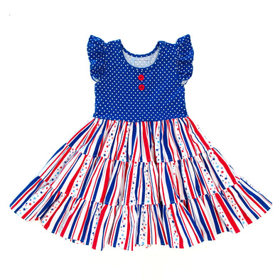 Star Spangled Rhonda Tiered Dress
